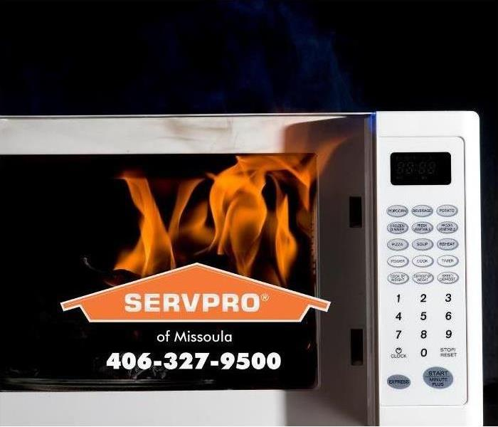 fire in a microwave